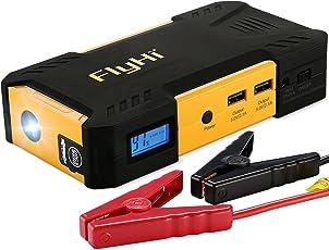 FlyHi Jump Starter D12 con 18000mAh 800A per L'avviamento Dell'automobile (fino a 6.5L a gas o diesel da 5.2L) Power Bank con luce del LED e uscita USB intelligente
