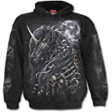 Espiral - Sudadera con capucha para hombre, diseño de calavera de Jax, color negro