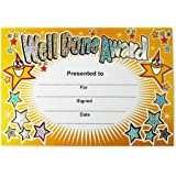 SuperStickers Goed gedaan Award Sparkling Classroom Certificaat, a5 certificaten