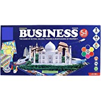 ASHICHIPRO International Business 5 in 1 Deluxe Game with Plastic Money Coins for Young Businessmen to Learn Trading and…
