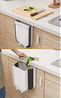 Home kitchen White//Brown Car Creative Wall Mounted Folding Waste Bin Tool UK
