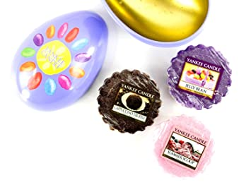 Yankee candle easter egg gift set 3 wax melts in metal shaped egg yankee candle easter egg gift set 3 wax melts in metal shaped egg amazon kitchen home negle Image collections