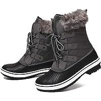 gracosy Bottes de Neige Imperméable Femme, Bottes Après Ski Fourrure Chaussures Hiver Bottines Pluie à Lacets Boots…