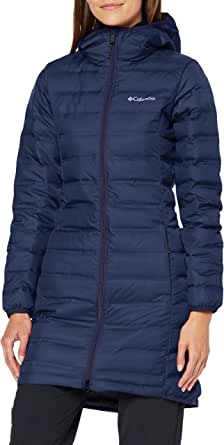 Columbia Lake 22 Down Long Hooded Jacket, Piumino Lungo con Cappuccio Donna, Blu (Nocturnal), L