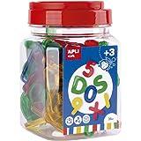 APLI Kids - Letras y números transparentes de colores 36 u. - Actividad educativa