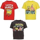 Nickelodeon Spongebob Squarepants niños 3 paquetes de camisetas