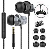 Hörlurar, hörlurar i örat med mikrofon med hög känslighet – brusisolerande, hög upplösning, kompatibel med iPhone, iPod, iPad