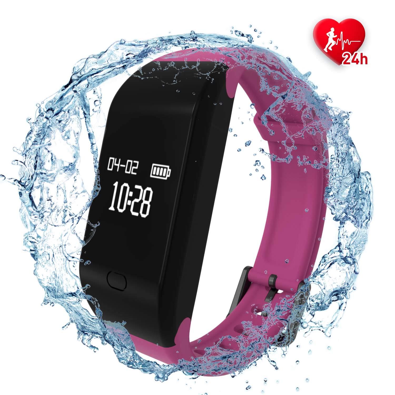Fitpolo Pulsera de Actividad,Reloj Inteligente para Hombre y Mujer, IP68 Impermeable Reloj Deportivo con Rtmo Cardíaco… 1