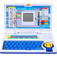 esnipe mart® 20 activities & games fun laptop notebook computer toy for kids-Blue