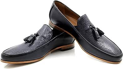 CANNERI Mocassini Uomo con Nappe - 9513 - Elegante Loafer - Scarpa Classica da Lavoro - Scarpa Antiscivolo per Il Business e Il Tempo Libero in Pelle con Design e Stile