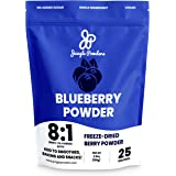 Jungle Powders Wild Blueberry Powder 100g, Nordic Freeze Dried Blueberries No Sugar Added, Additive and Filler Free Bilberry