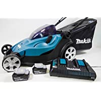 Makita dlm431pt2 Push Lawn Mower Black, Blue Lawn Mower Lawn mowers (Push Lawn Mower, 1000 m², 4.3 cm, 50 L, 2 cm, 7.5 cm)
