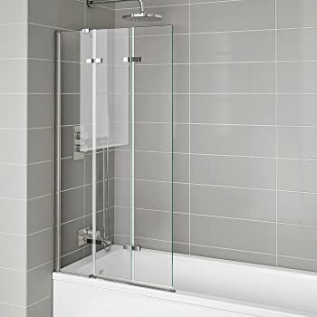 Luxury Sliding Bath Shower Glass Extending Screen
