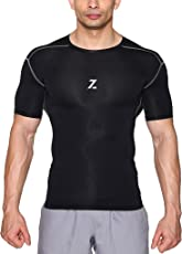 Azani Original Series Half Sleeve Compression Tops - Black