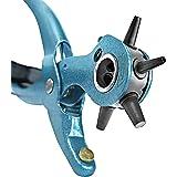 S&R Pinza fustellatrice per Cinture Pelle Scarpe/Made in Germany/Fustellatrice Professionale con 6 fustelle intercambiabili 2