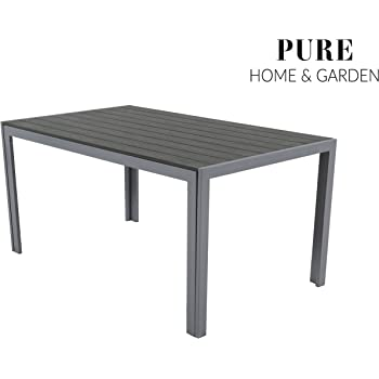 Amazon.de: Pure Home & Garden Aluminium Gartentisch Fire XL mit ...