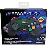 Retrobit - Sega Saturn Manette 8 boutons sans fil 2.4Ghz - Dongle USB/Port d'Origine inclus - Edition Gris