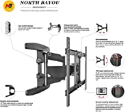 Full Motion TV Wall Mount for Most 40-70 Inches LED LCD Computer Monitors and TVs,Adjustable Tilting, Rotating.Weight up to 100lbs by NB NORTH BAYOU(P6)