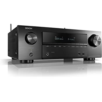 Denon AVRX1500H 7.2-Kanal AV-Receiver (HEOS Integration, Amazon Alexa Steuerung, Dolby Vision Kompatibilität, Dolby Atmos, dtsX, WLAN, Bluetooth, Amazon Music, Spotify Connect, 140 Watt) Schwarz