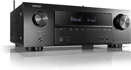 Denon AVRX1500H 7.2-Kanal AV-Receiver (HEOS Integration, Amazon Alexa Steuerung, Dolby Vision Kompatibilität, Dolby Atmos, dtsX, WLAN, Bluetooth, Amazon Music, Spotify Connect) Schwarz