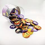 Halloween - Monedas de chocolate con leche 36 mm Bote 110 unid.
