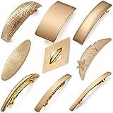 9 pezzi retrò fermagli per capelli in metallo dorato grandi perni per capelli semplici fermagli a clip francesi per donne e r
