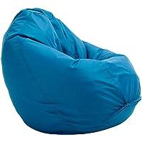 Bruni Sitzsack Classico L in Blau – XL Sitzsack mit Innensack zum Lesen, Abnehmbarer Bezug, lebensmittelechte EPS-Perlen…