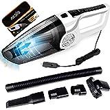 AYSIS Car Vacuum Cleaner - Plastic Powerful Portable & High Power 120W 12V White Handheld Vacuum Cleaner for Car