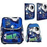 7739de0b9a002 SCOOLSTAR Fußball Schulranzen Jungen 1 Klasse Tornister Schulrucksack  Schultasche