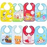 SLOSH 8 Baberos Impermeables Bebe Waterproof Niñas Niños Unisex Para Bebés de 6 Meses a 3 Años