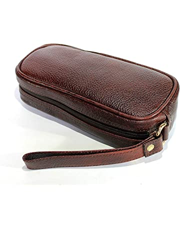 47e62af6504 StonKraft 100% Genuine Leather Toiletry Bag Grooming Cosmetic Hygiene  Bathroom Pouch Dopp Kit Case Makeup