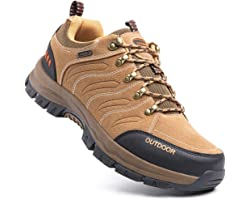 Hiking Shoes Men Non-Slip Low Rise Trekking Boots Synthetic Breathable Walking Shoes Outdoor All Seasons Black Blue Green Bro