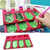 Plateau organiseur pour accessoires de peinture à strass pour adultes - Support multi-compartiments pour conteneurs de bocaux