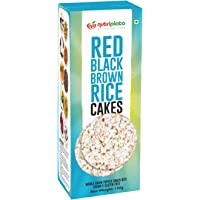Nutriplato-enriching lives Red Black Brown Rice Cakes, 150 g