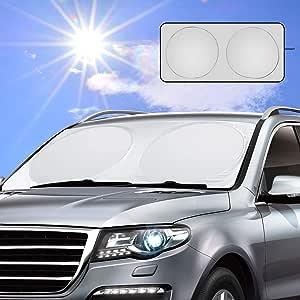 Vintoney Sun Protection For Windscreen Car Windscreen Cover Windshield For Windscreen Sun Protection Blocks Uv Cover For Various Sizes 160 X 83 Cm Auto