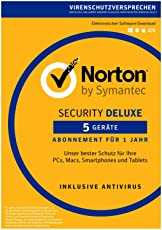 Norton Security Deluxe 2018 | 5 Geräte | 1 Jahr | PC/Mac/iOS/Android | Download