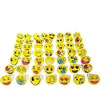 JZK 50 Regolabili Emoticon Emoji Anelli Gioco per Bambina Gioielli Giocattolo per Ragazza bomboniera pensierino…