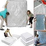 WHK Protecteur de Matelas imperméable, Housse de Protection de Matelas Sacs de lit de Rangement en Plastique pour Stocker et