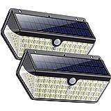 SWEYE Luce Solare Led Esterno 266LED,【Nuova Versione-Super Iuminosa 2500lm/2200mAh】Lampada Solare Luci Solari Impermeabile IP
