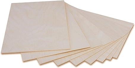 Holzplatte Sperrholz Laubsäge 3mm | Dünne Platten Blatt Birke Holz  Spanplatte | Perfekt Für Brandmalerei,