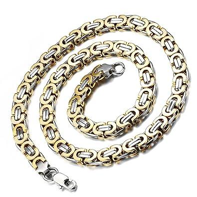 Halskette gold breit