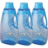 Nayasa Fontana Pet Bottle, 1500 ml (Set of 3,Blue)