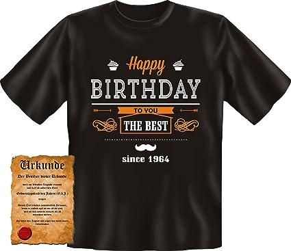 Lustiges Geburtstag Fun T Shirt   Spruch: Happy Birthday   Since 1964   50  Jahre Funshirt Herren Shirt Geschenk Sprüche Motiv Bithday: Amazon.de:  Bekleidung