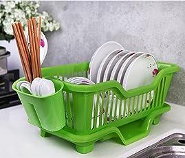 FastUnbox Kitchen Sink Dish Plate Drainer Drying Rack Wash Organizer Tray Holder Basket(44 X 18 X 15 cm)