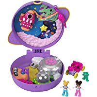 Polly Pocket Coffret Univers L'Exploration de Saturne, mini-figurines Polly et Shani, accessoires et autocollants inclus…