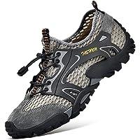 Treasu-LQ Chaussures de rivière d'extérieur légères en Cuir pour Hommes Maille Respirante Semelle antidérapante…
