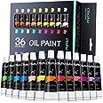 Ohuhu Olieverfset, 36 levendige kleuren, 12ml x 24 buizen, op basis van olie, kunstenaars verven olieverf Set Voor Papier, Ca