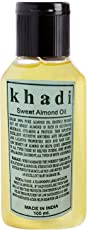 khadi Sweet Almond Oil (100ml) Made in India Fully Ayurvedic natural and Herbal by Khadi khazana