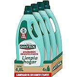 Sanytol – Botella Desinfectante Limpiahogar, Elimina Bacterias, Hongos y Virus Sin Lejía, Perfume Eucaliptus - Pack de 4 x 1.