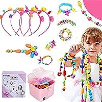 Ucradle Pop Perles, 550 Pièces Perles pour Enfant Bricolage Création Bijoux Enfant Kit de Creation de Bracelet Collier…